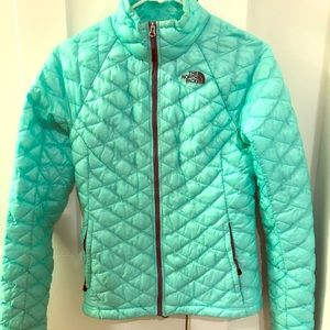 Teal North Face Winter Coat